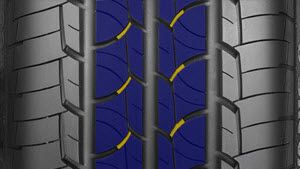 Vanis2 tyre Dry features