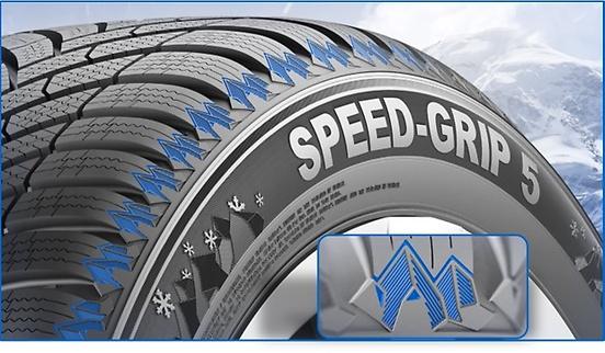 Semperit-speed-grip5-Attractive-pattern-and-striking-off-shoulder-design